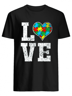 Love Support Puzzle Heart Autistic Shirt