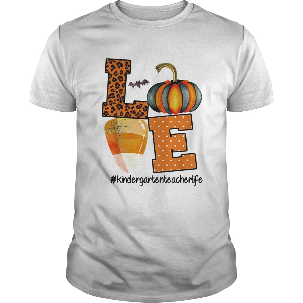 Love kindergarten teacher life Halloween shirt