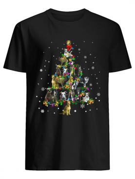 Lurcher Christmas Tree T-Shirt