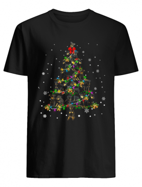 Manchester Terrier Christmas Tree T-Shirt