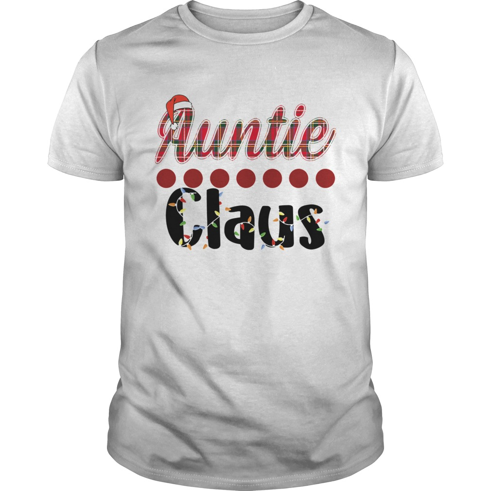 Merry Christmas Auntie Claus Funny Auntie TShirt