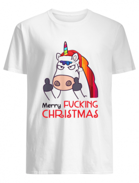 Merry Fucking Christmas Unicorn Fuck shirt