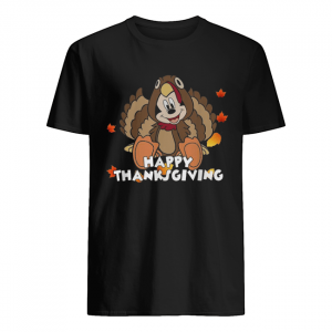 Mickey Mouse happy thanksgiving  Classic Men's T-shirt