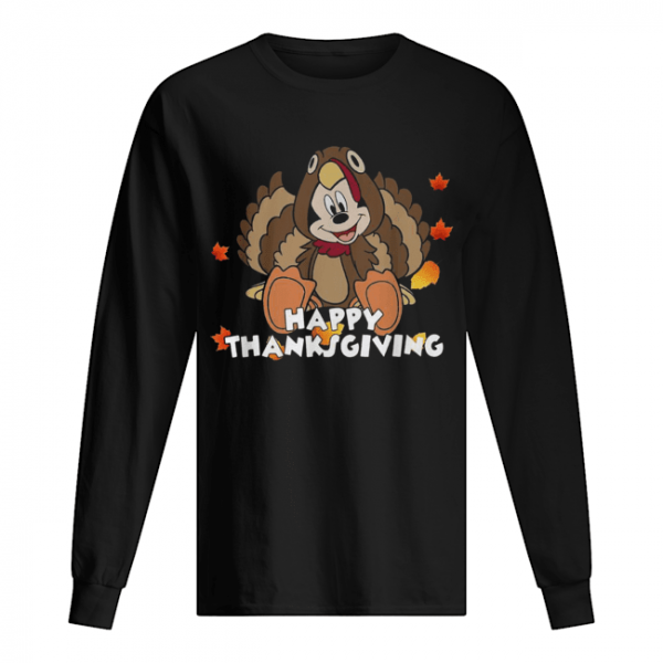 Mickey Mouse happy thanksgiving  Long Sleeved T-shirt