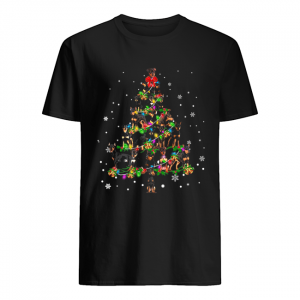 Miniature Pinscher Christmas Tree T-Shirt Classic Men's T-shirt