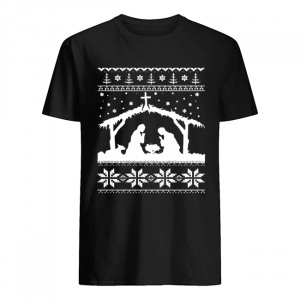 Nativity Scene Ugly Christmas Shirt Classic Men's T-shirt