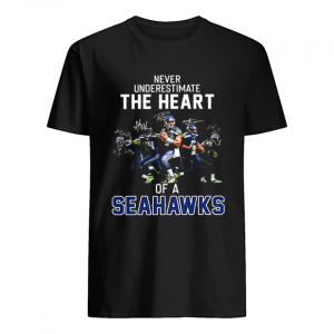 Never underestimate the heart of a Seahawks  Classic Men's T-shirt