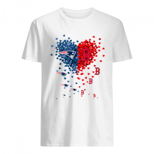New England Patriots And Boston Red Sox Tiny Hearts Shape Shirt Classic Men's T-shirt