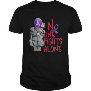 No one fights alone Pennywise alzheimer awareness t Unisex