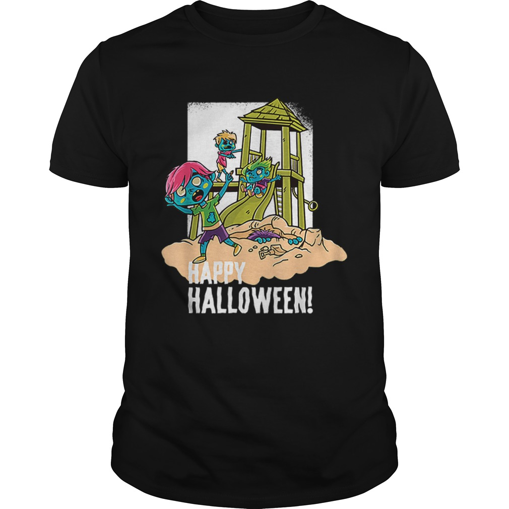 Official Happy Halloween Playground Zombie shirt