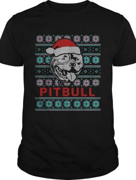 Pitbull Ugly Christmas Dog Gift TShirt
