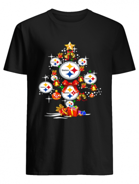 Pittsburgh Steelers Football Logo Gifts Merry Christmas Tree shirt