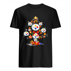 Pittsburgh Steelers Football Logo Gifts Merry Christmas Tree  Classic Men's T-shirt