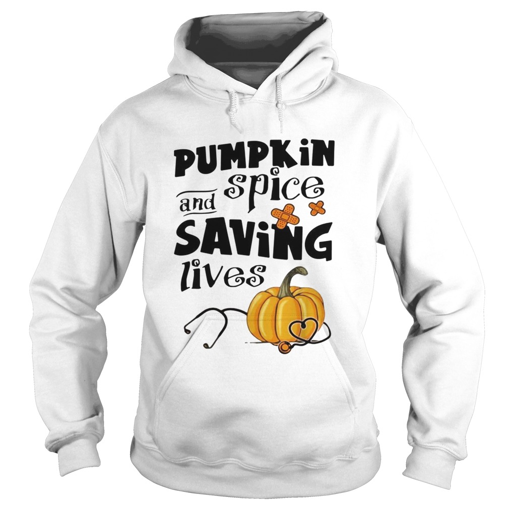 Pumpkin spice and saving lives Halloween Hoodie