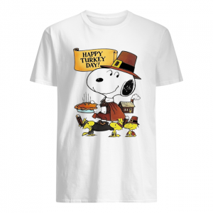 Snoopy happy Turkey day  Classic Men's T-shirt