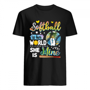 Softball Is Her World She Is Mine T-Shirt Classic Men's T-shirt