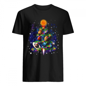 Solar System Christmas Tree T-Shirt Classic Men's T-shirt