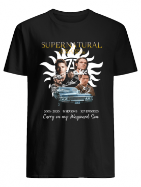 Supernatural Family don't end with blood carry on my Wayward Son shirt