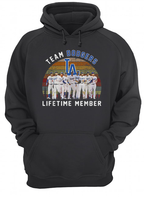 Team Los Angeles Dodgers lifetime member vintage  Unisex Hoodie