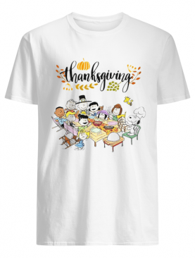 Thanksgiving Snoopy and friends party shirt