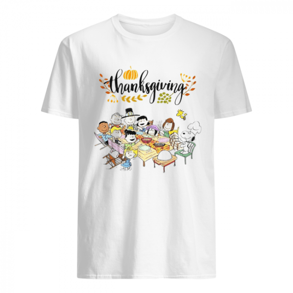 Thanksgiving Snoopy and friends party  Classic Men's T-shirt