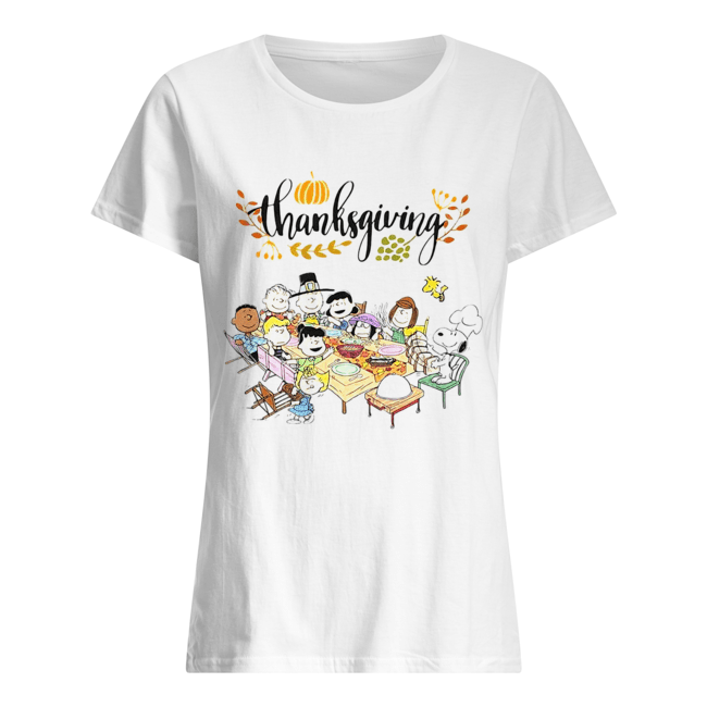 Thanksgiving Snoopy and friends party Classic Women's T-shirt