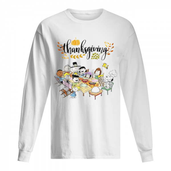 Thanksgiving Snoopy and friends party  Long Sleeved T-shirt