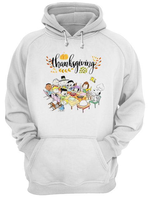 Thanksgiving Snoopy and friends party  Unisex Hoodie