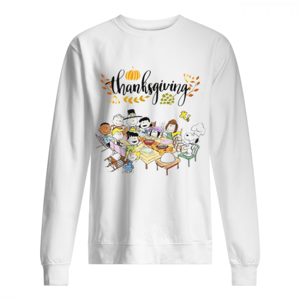 Thanksgiving Snoopy and friends party  Unisex Sweatshirt
