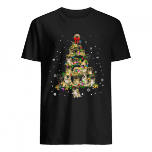 Tibetan Spaniel Christmas Tree T-Shirt Classic Men's T-shirt