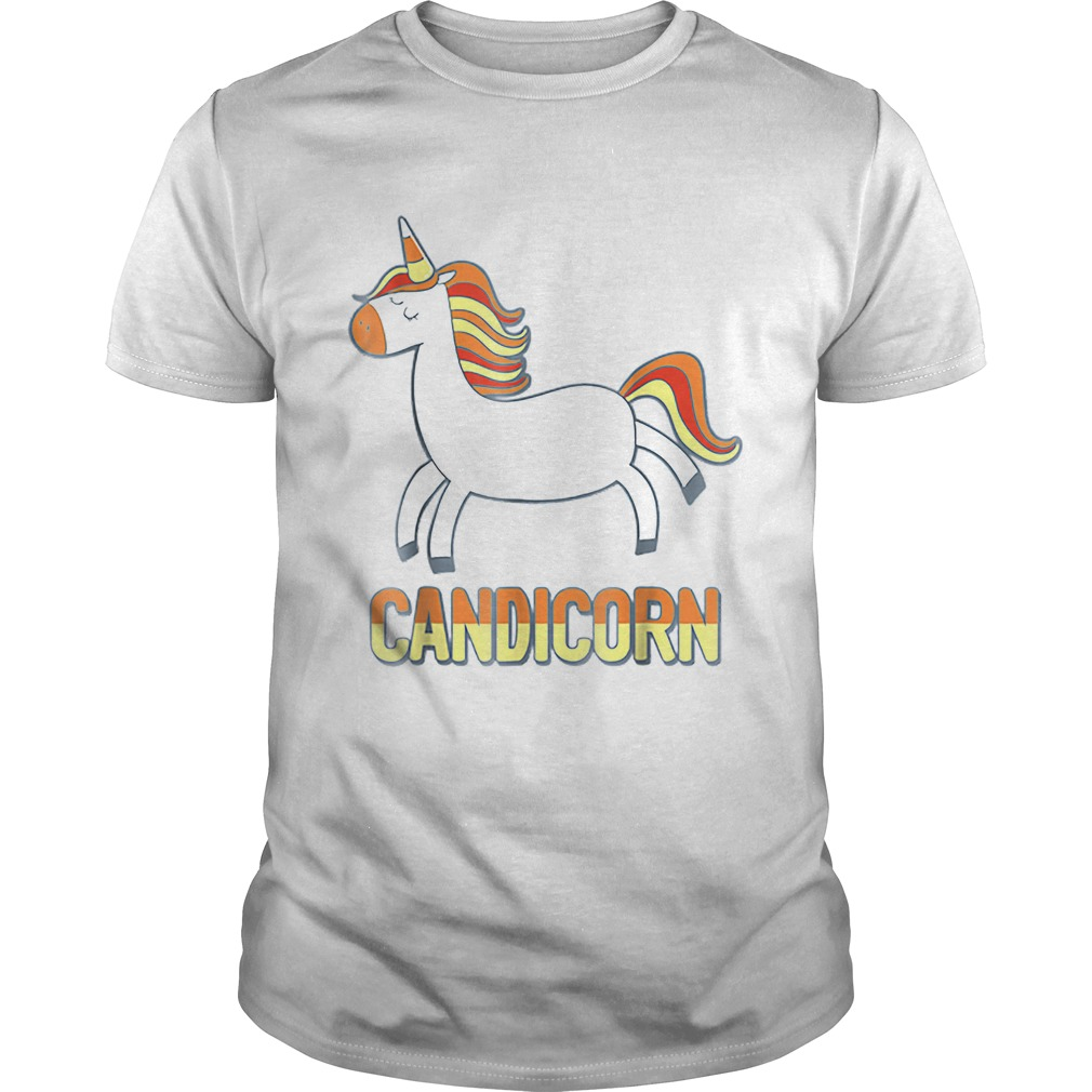Top Cute Candicorn Halloween Candy Corn Unicorn shirt