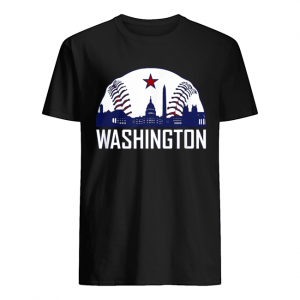 Washington DC Baseball Hometown Skyline National Vintage T Shirt Classic Men's T-shirt