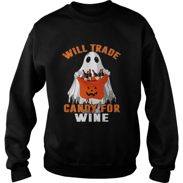 Will Trade Candy For Wine Funny Wine Lover TShirt Sweatshirt