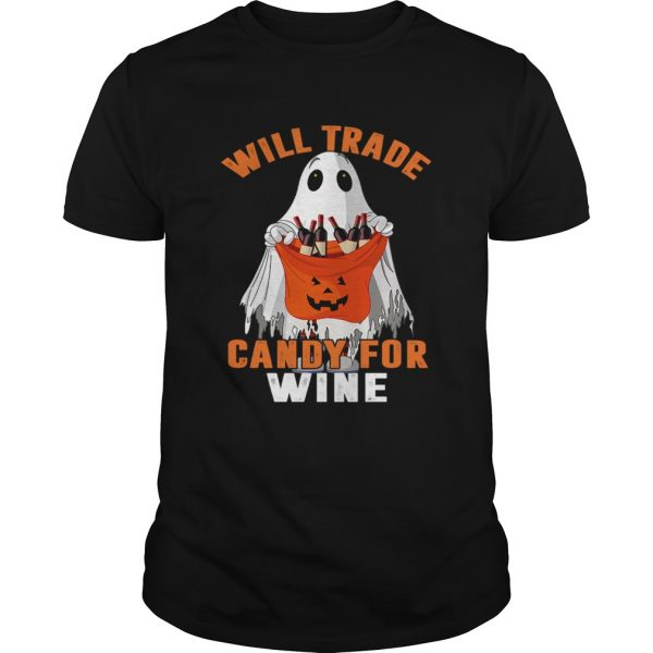 Will Trade Candy For Wine Funny Wine Lover TShirt Unisex