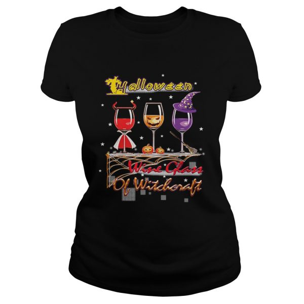 Wine Glass Of Witchcraft Halloween T Classic Ladies