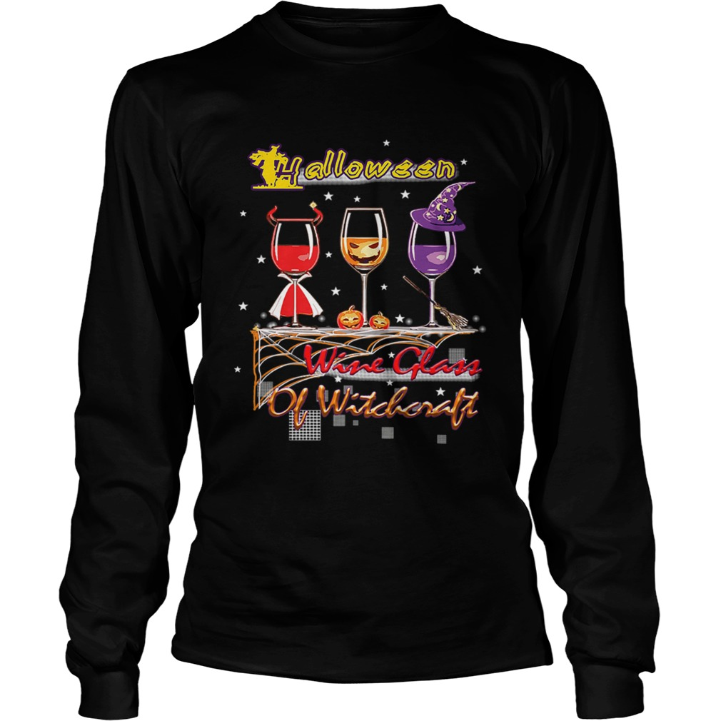 Wine Glass Of Witchcraft Halloween T LongSleeve