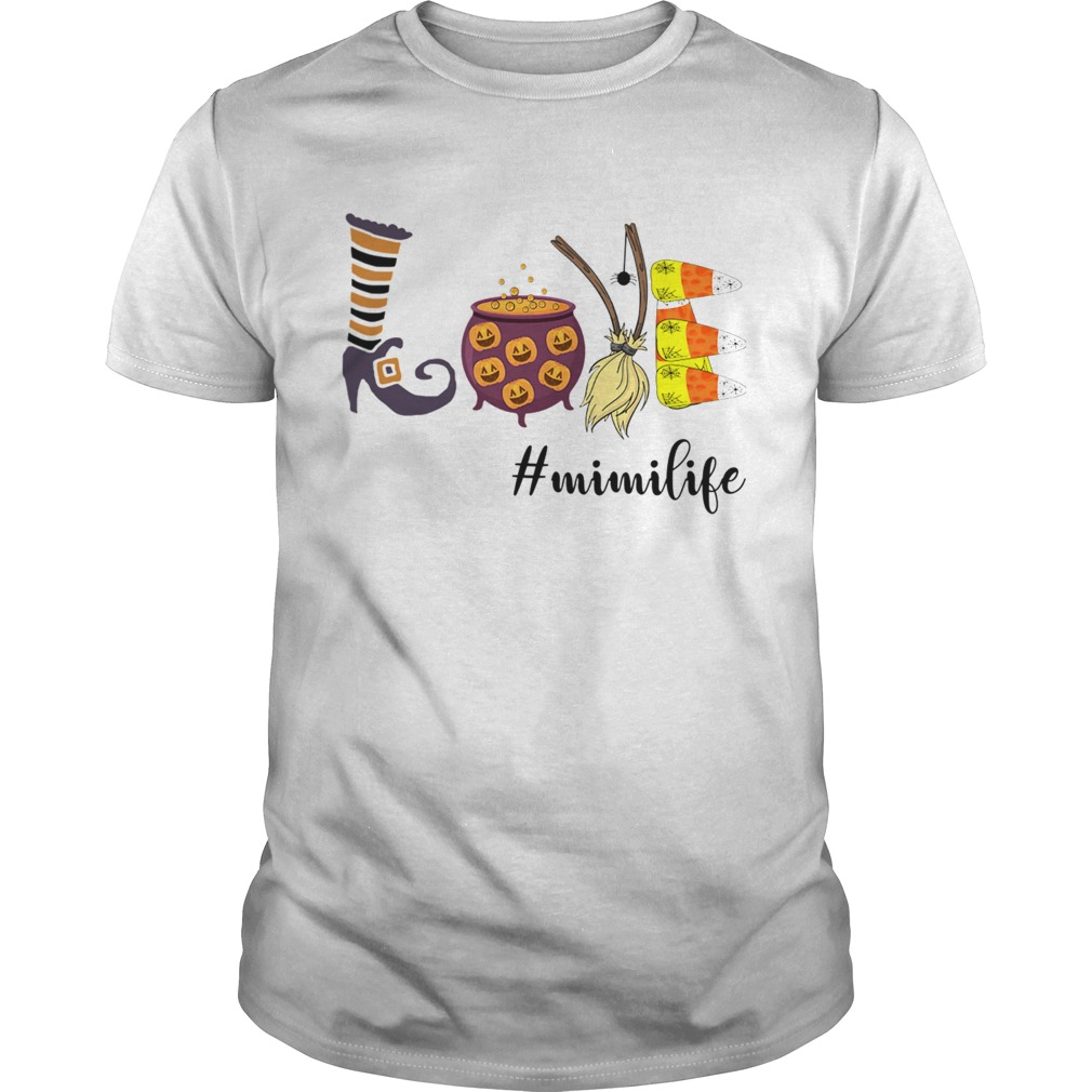 Women Halloween Love mimilife Mimi Life TShirt