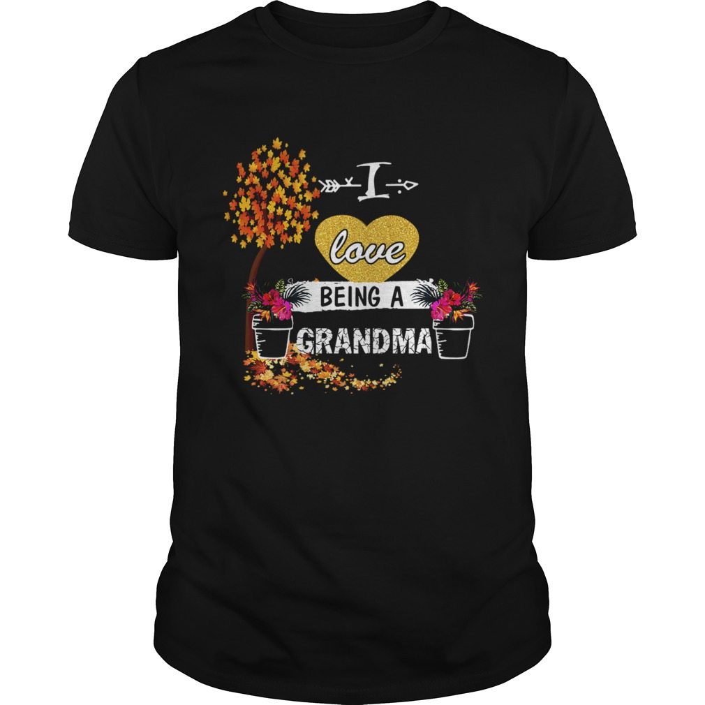 Women I Love Being A Grandma Floral TShirt