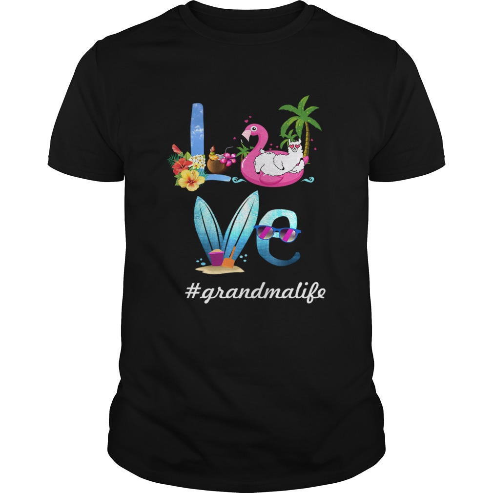 Women Mom Love Grandmalife Grandma Life Summer TShirt