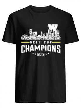 107th Grey Cup Blue Bombers Building Players Champions 2019 shirt