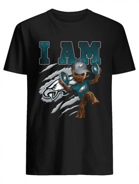 Baby Groot I Am Philadelphia Eagles shirt