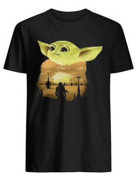 Baby Yoda Sunset shirt