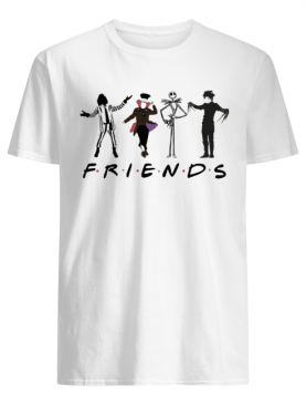 Beetlejuice Hatter Jack Skellington Edward Scissorhands Friends shirt