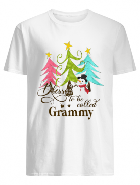 Blessed To Be Called Grammy Tree Snowman Christmas shirt