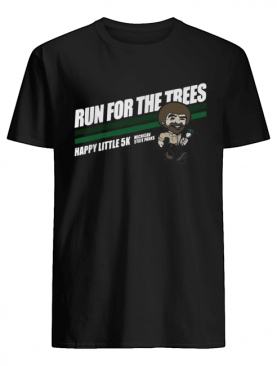 Bob Ross Run for the trees happy little 5k Michigan State Parks shirt