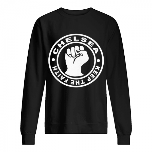 Chelsea Football Keep The Faith Logo  Unisex Sweatshirt