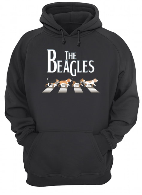 Dogs the beagles abbey road  Unisex Hoodie