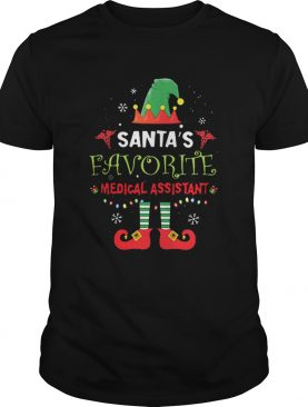 Elf Santas favorite medical assistant shirt
