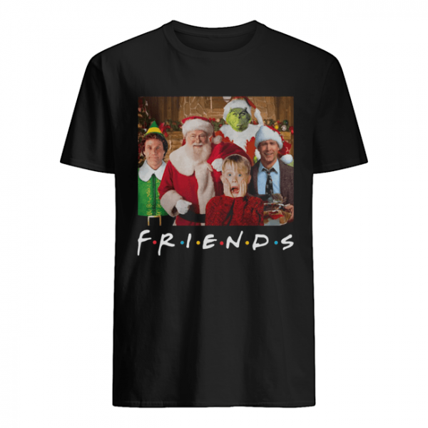Friends Grinch Elf Santa Clark Griswold Kevin Characters Christmas  Classic Men's T-shirt