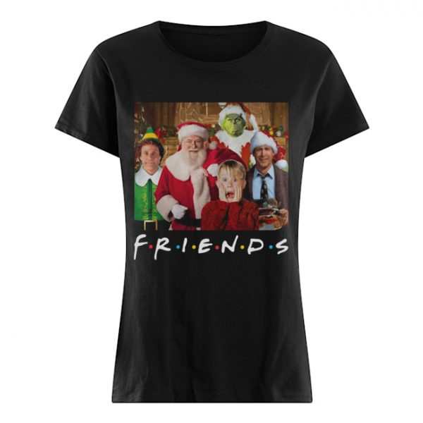 Friends Grinch Elf Santa Clark Griswold Kevin Characters Christmas  Classic Women's T-shirt